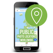 Public Photo Locations Worldwide Map Licentie