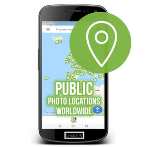 Public Photo Locations Worldwide Map Licentie